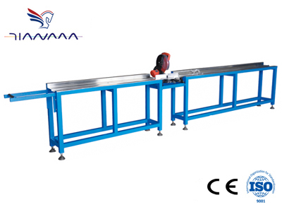 Aluminum spacing bar cutting machine